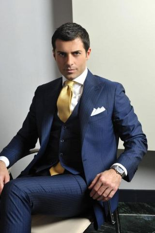 5 мужская мода стильные мужчины men in blue 12
