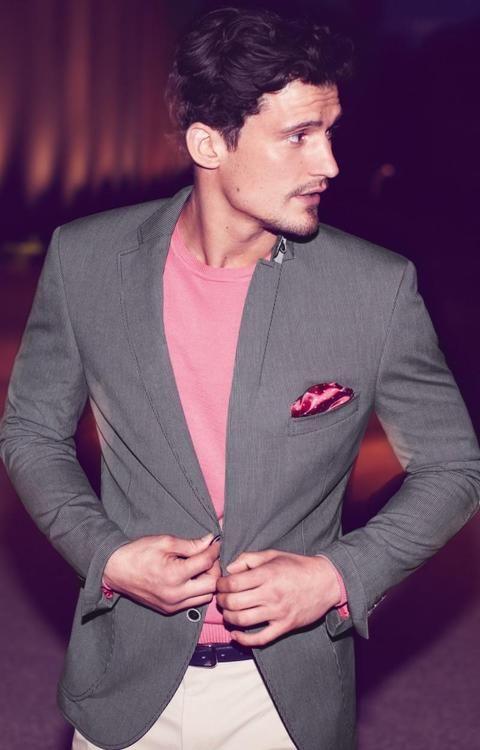 7 мужская мода стильные мужчины men in pink 07