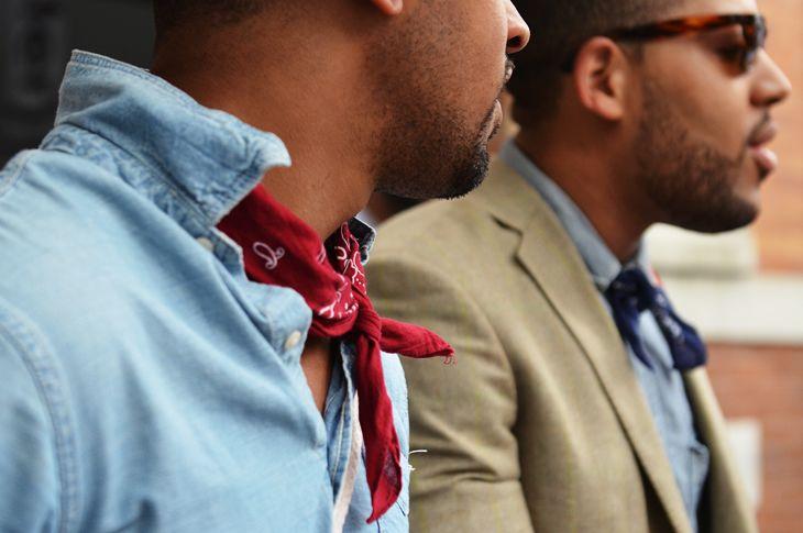 как носить шейный платок мужчине 11