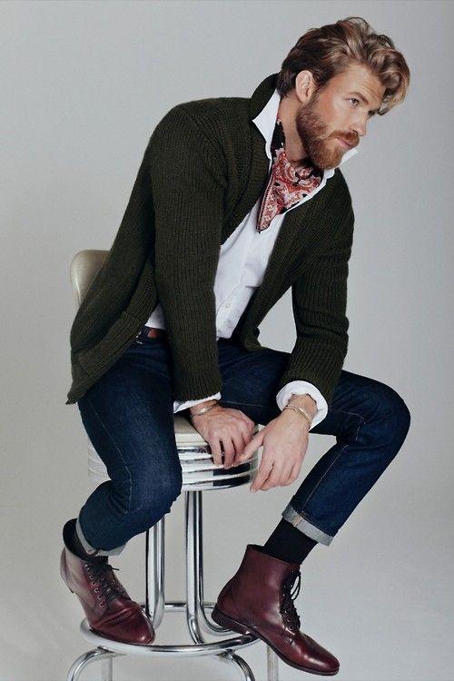 как носить шейный платок мужчине 12