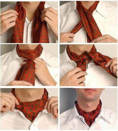 как носить шейный платок мужчине 17