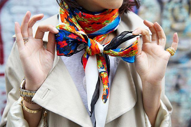 как носить шейный платок 16