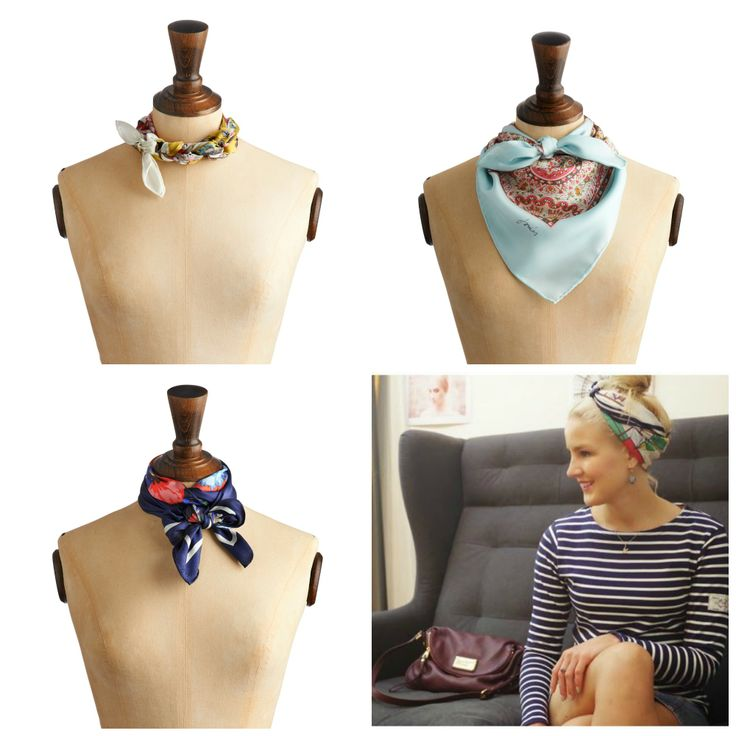 How to wear a neck scarf for work