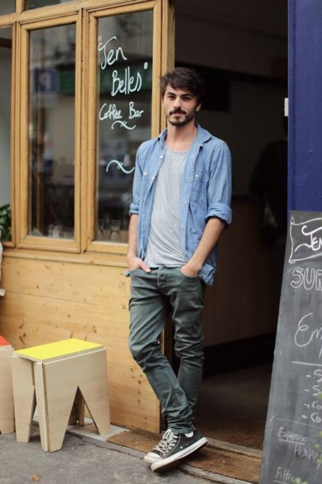 С чем носить высокие мужские кеды
