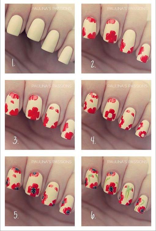 несложные рисунки на ногтях 11