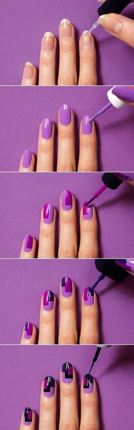 рисунки на ногтях фото несложные