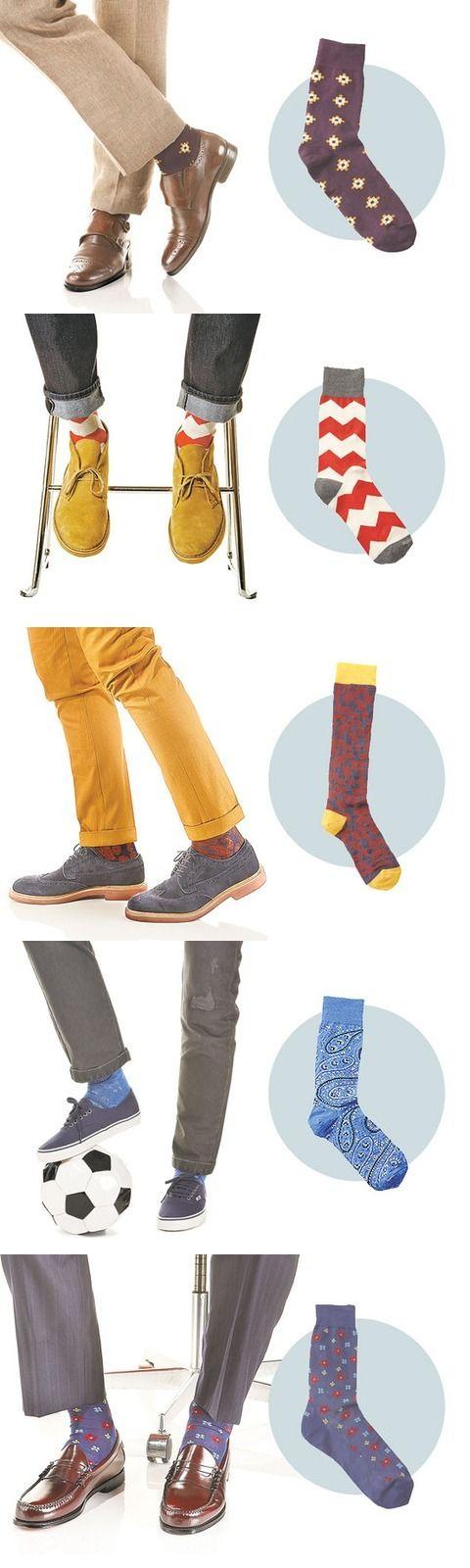 цветные мужские носки 14