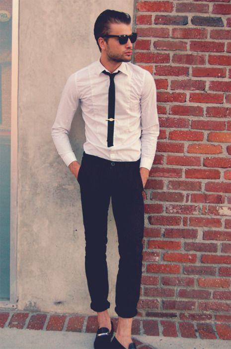 как носить зажим для галстука 05