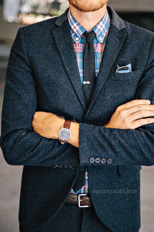как носить зажим для галстука 06