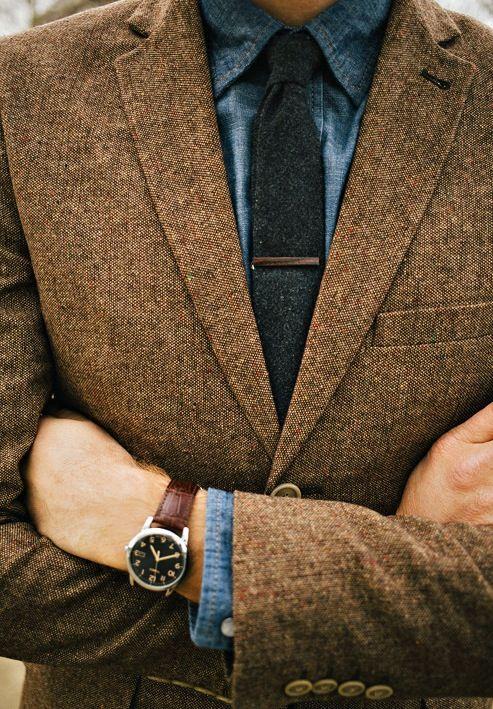 как носить зажим для галстука 12