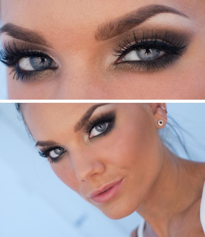макияж для голубых глаз 01