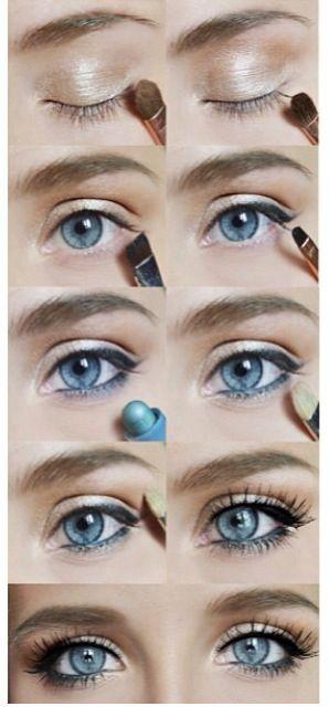 макияж для голубых глаз 02