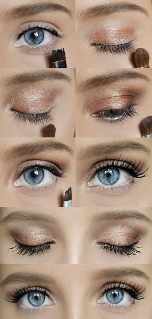 макияж для голубых глаз 03