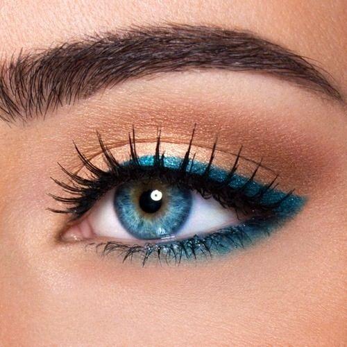 макияж для голубых глаз 04