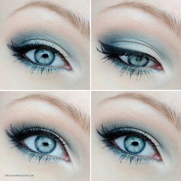макияж для голубых глаз 08