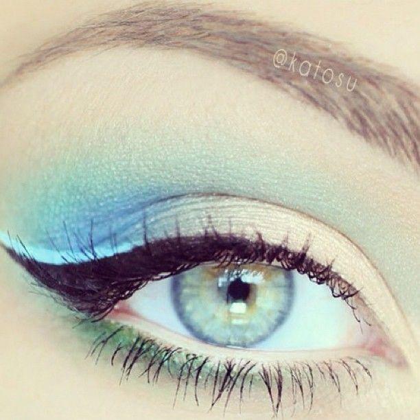 макияж для голубых глаз 09