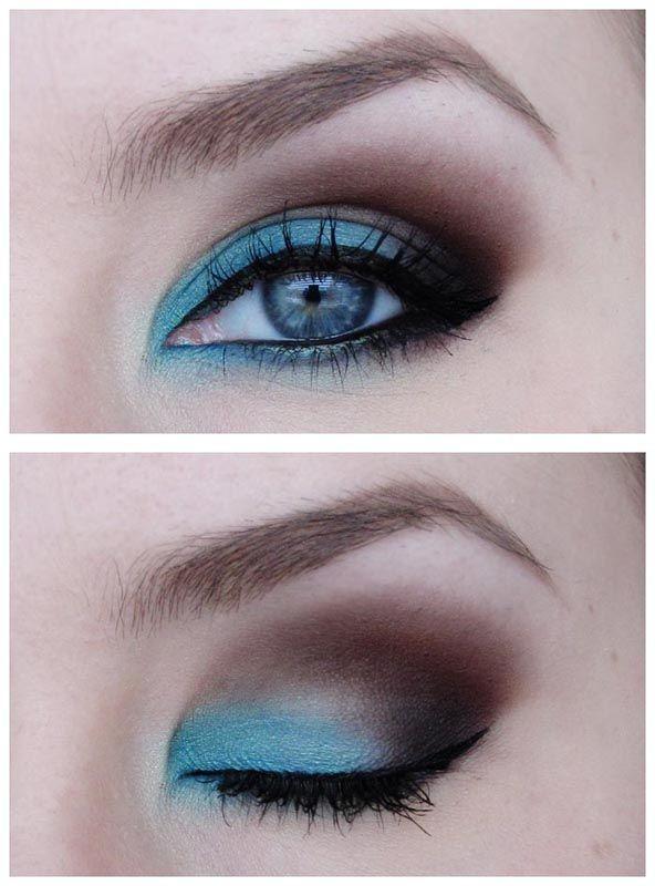 макияж для голубых глаз 14