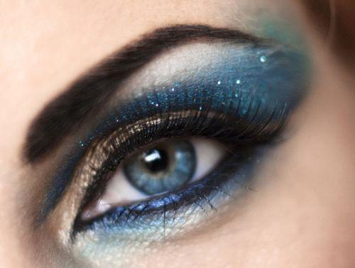 макияж для голубых глаз 16