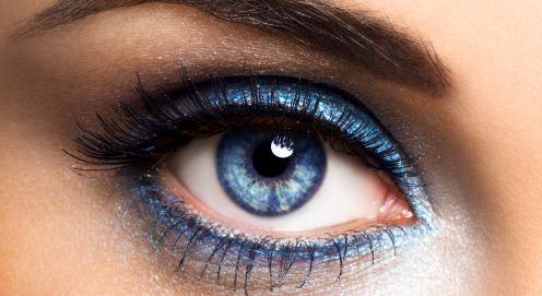 макияж для голубых глаз 20