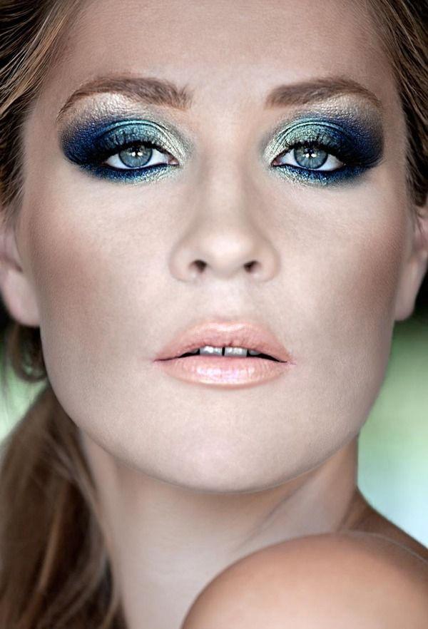 макияж для голубых глаз 21
