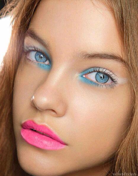 макияж для голубых глаз 23