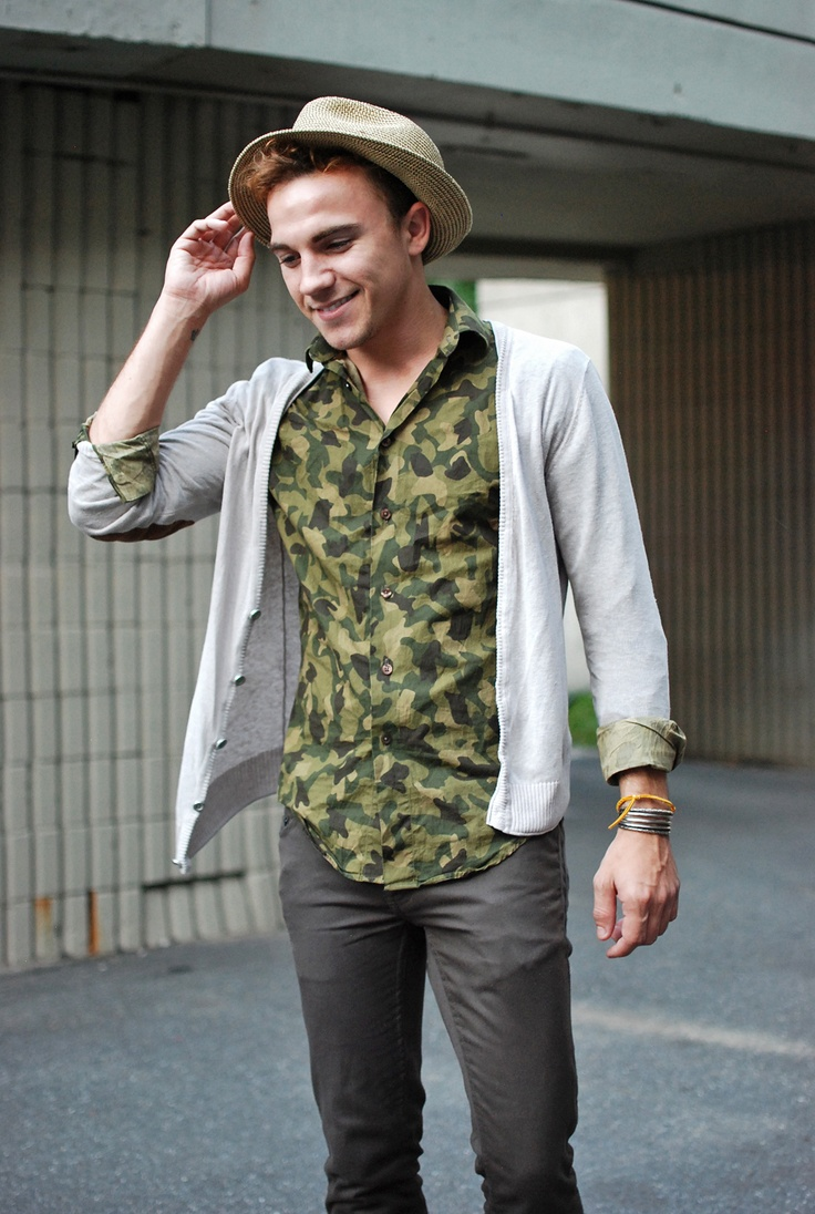одежда хаки мужской стиль 06