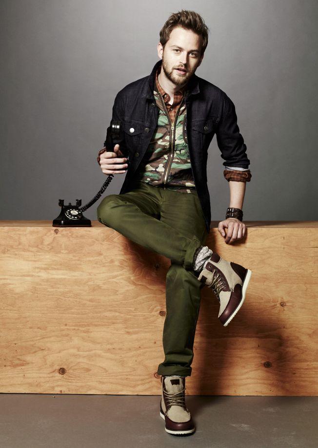 одежда хаки мужской стиль 13