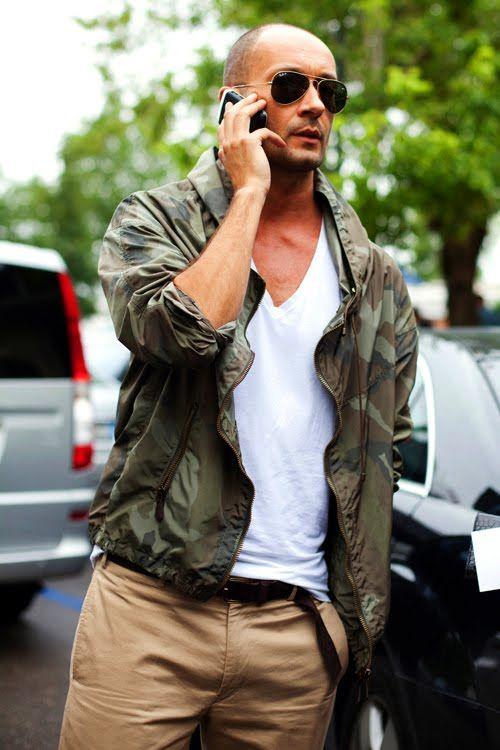 одежда хаки мужской стиль 17