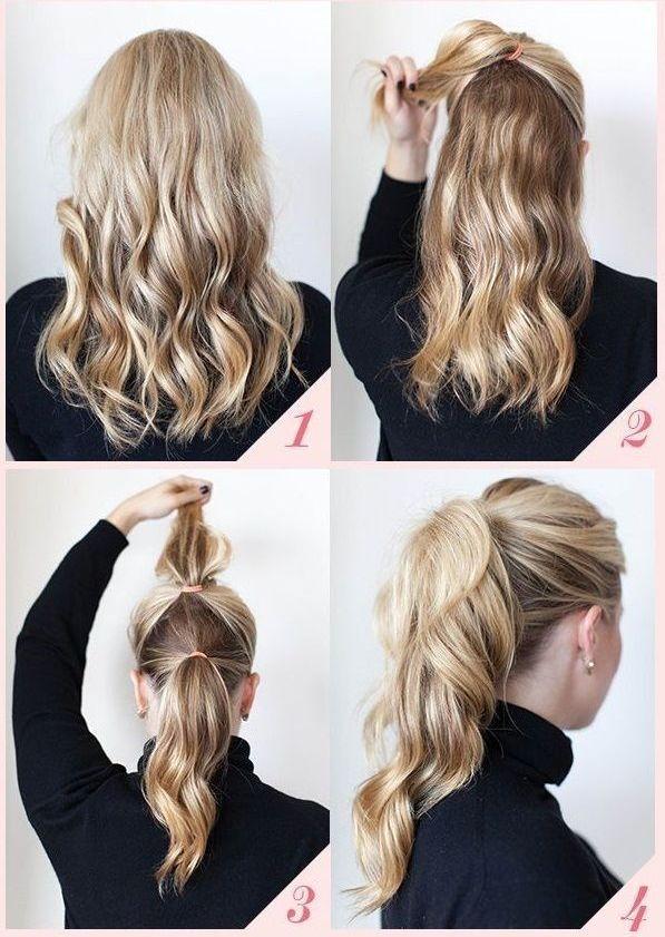 простые прически на средние волосы 02