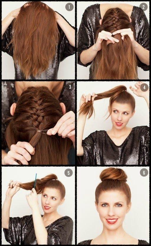 простые прически на средние волосы 03
