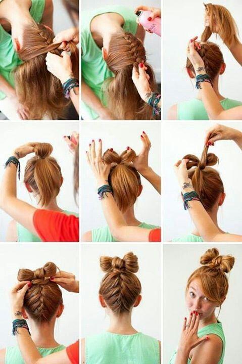 простые прически на средние волосы 04