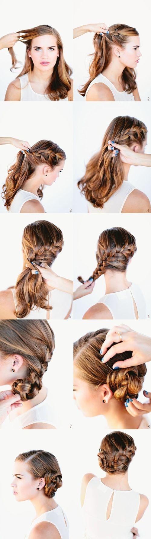 Причёски на средние волосы в домашних условиях своими руками фото