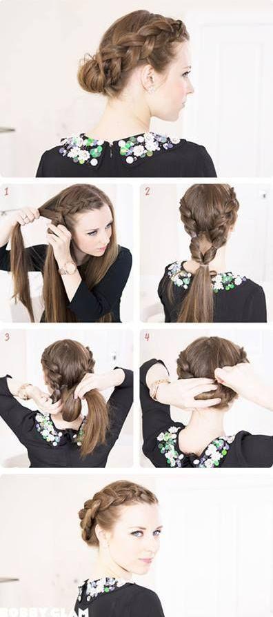 простые прически на средние волосы 06