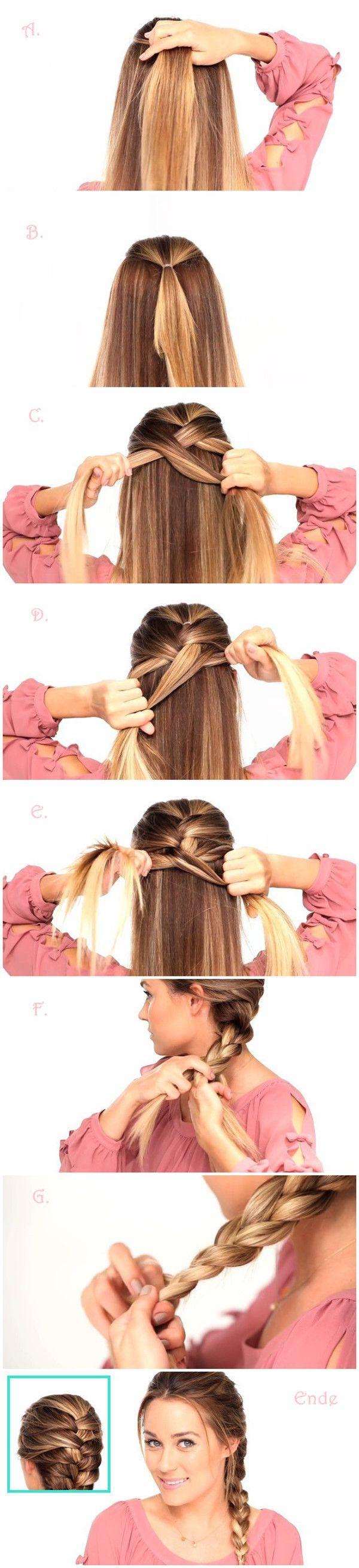 простые прически на средние волосы 07