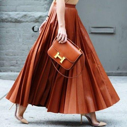 с чем носить кожаную юбку 13