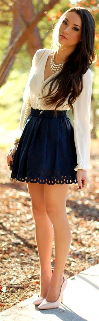 с чем носить кожаную юбку 14