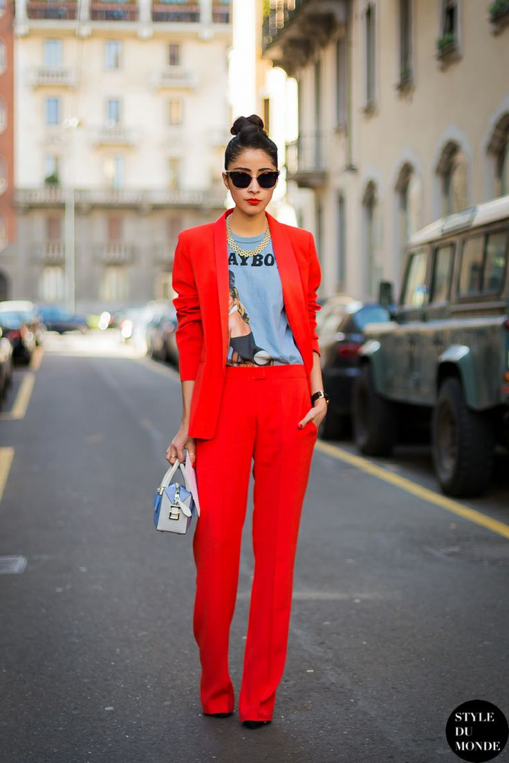 с чем носить красный 17