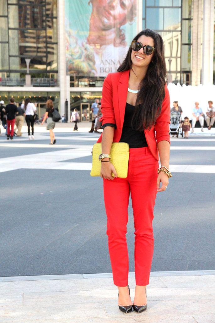 с чем носить красный 18