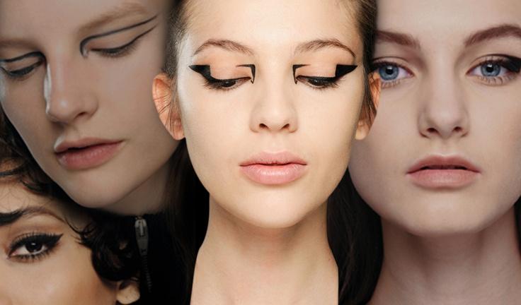макияж стрелки на глазах 01