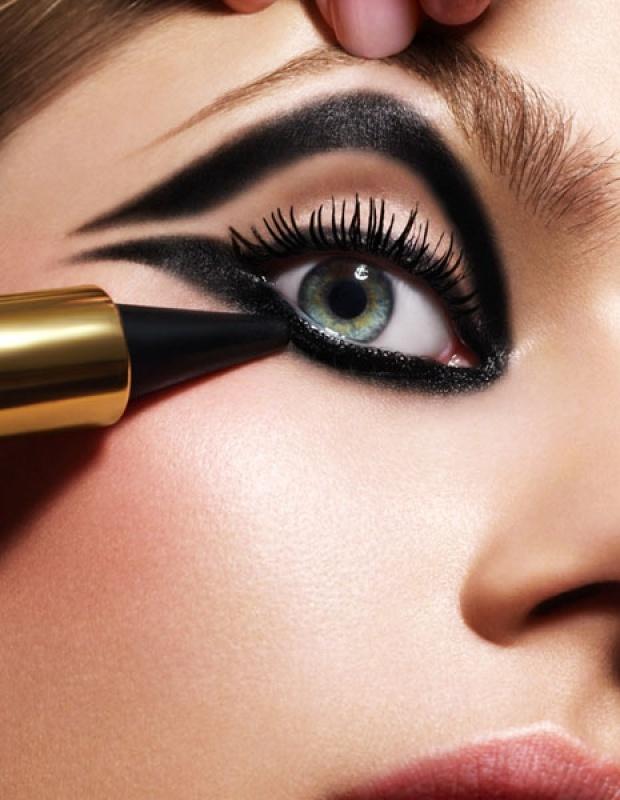 макияж стрелки на глазах 03