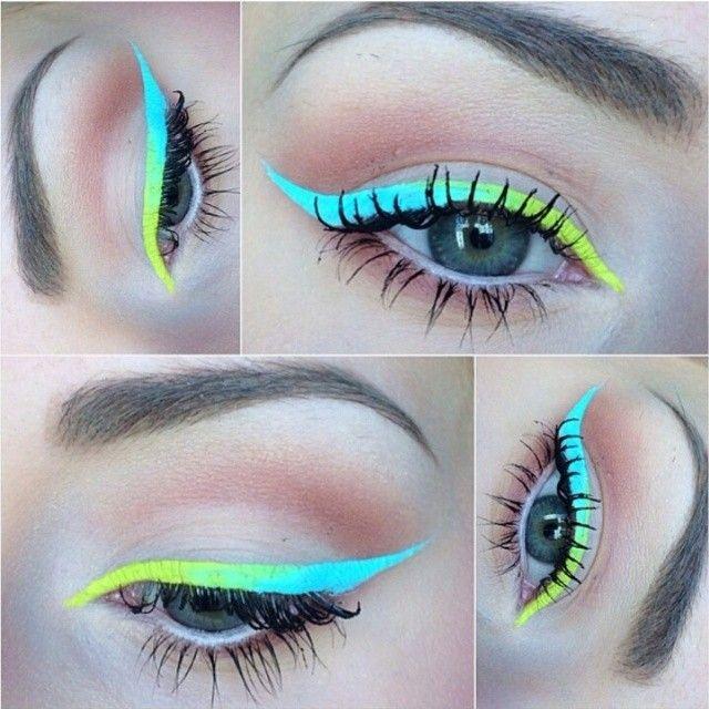 макияж стрелки на глазах 06