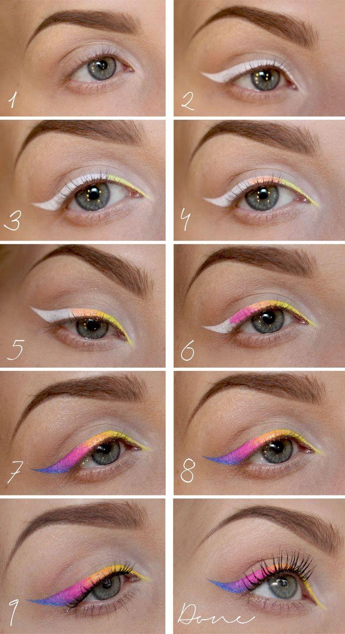 макияж стрелки на глазах 20