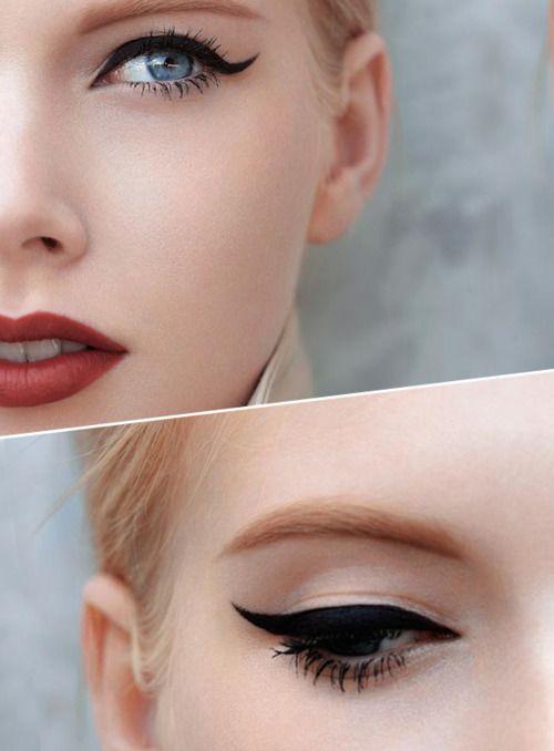 макияж стрелки на глазах 25