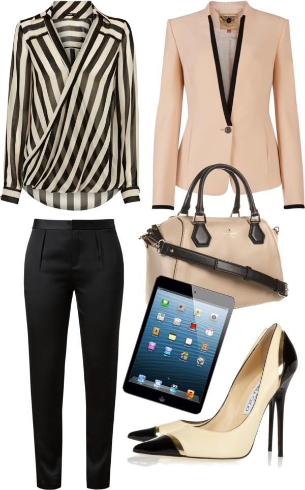 стиль бизнес леди одежда 03