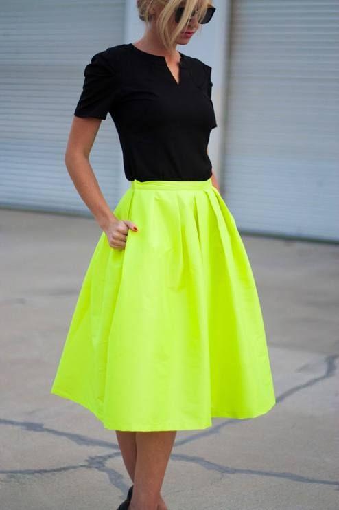 с чем носить юбку солнце 01