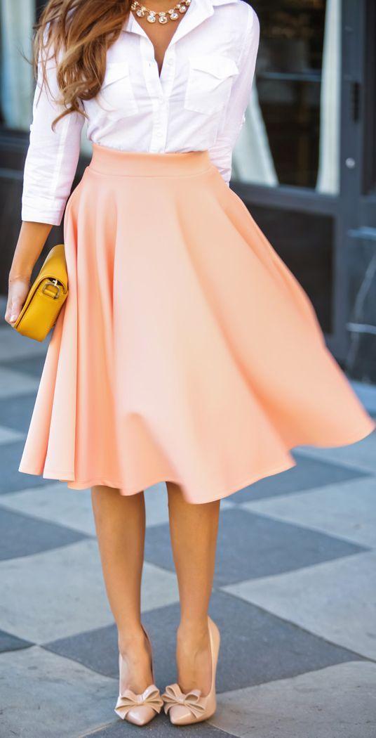 с чем носить юбку солнце 04