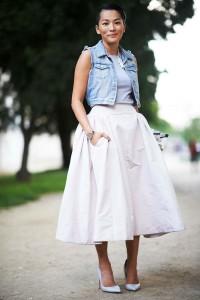 С чем носить юбку солнце?