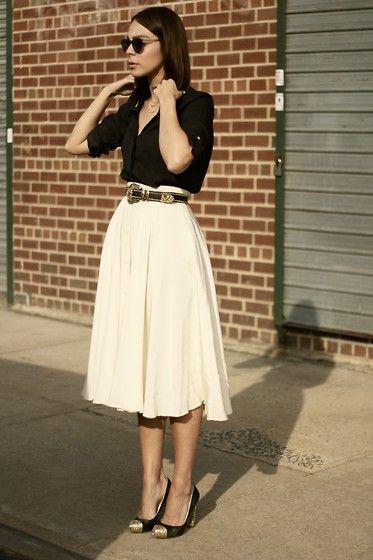 с чем носить юбку солнце 09