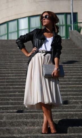 с чем носить юбку солнце 16