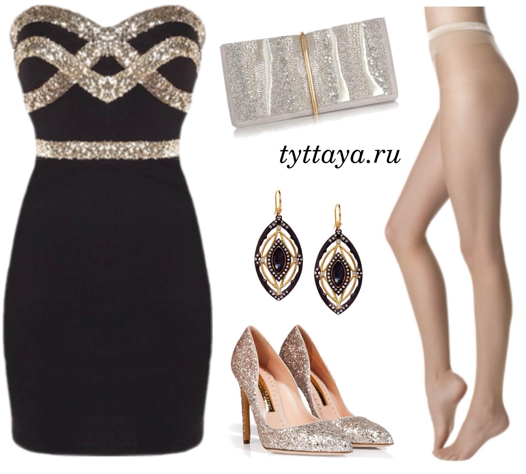 какие колготки носить с черным платьем 06